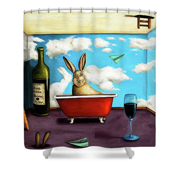 Little Rabbit Spirits Shower Curtain