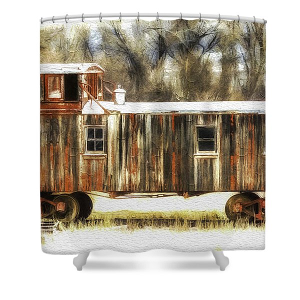 Little Red Caboose  Shower Curtain