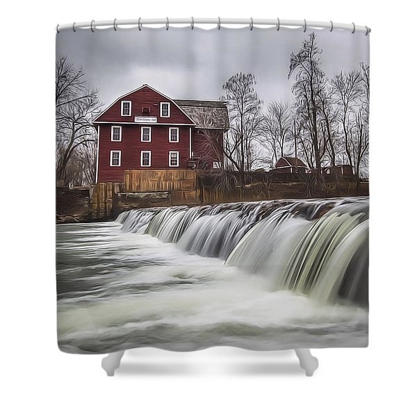 Little Red Mill Shower Curtain