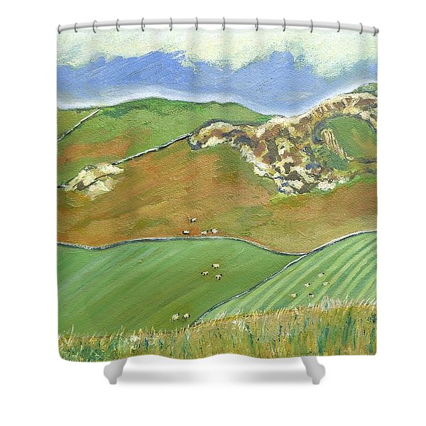 North Of The Coast Road Shower Curtain