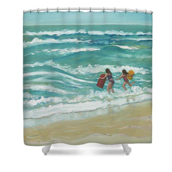 Little Surfers Shower Curtain