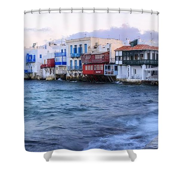 Little Venice Sunrise Shower Curtain