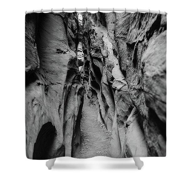 Little Wild Horse Canyon Bw Shower Curtain