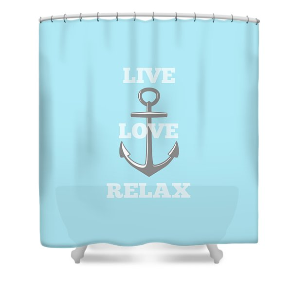 Live Love Relax - Customizable Color Shower Curtain