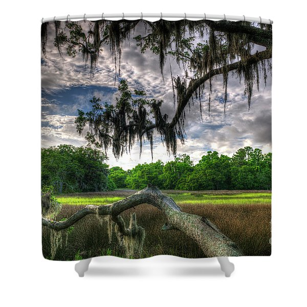 Live Oak Marsh View Shower Curtain