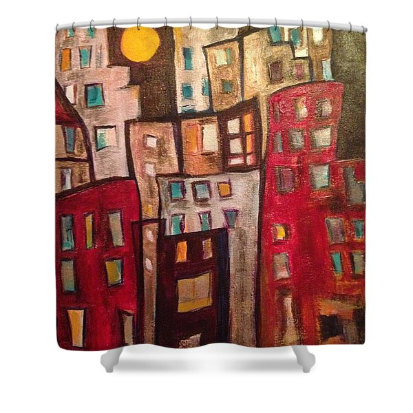 Lively City 1 Shower Curtain