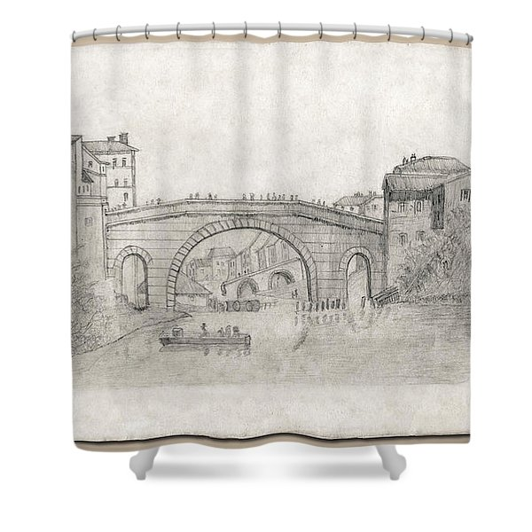 Liverpool Bridge Shower Curtain