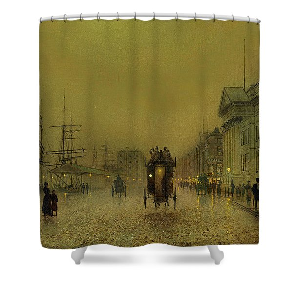 Liverpool Lights, Salthouse  Shower Curtain
