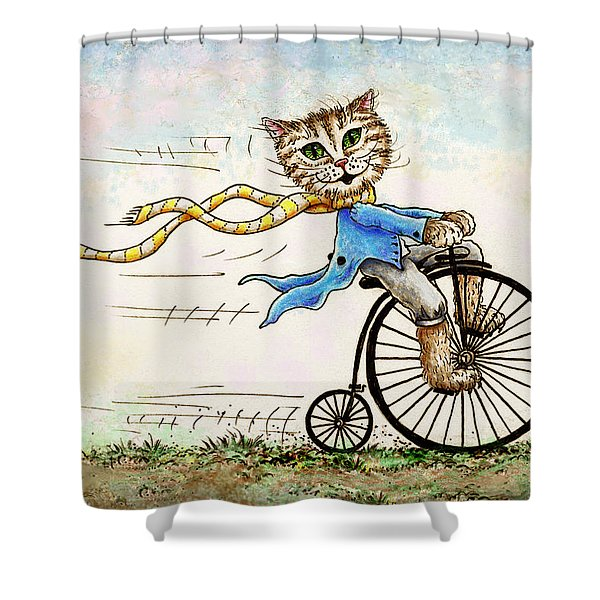 Living Flamboyantly Shower Curtain