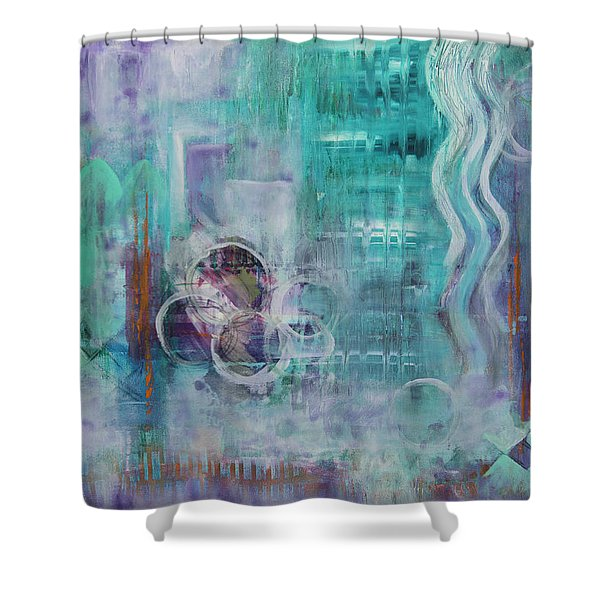 Living In The Mystery Shower Curtain