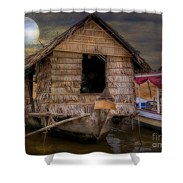 Living On The River Shower Curtain