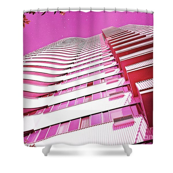 Living Pink Shower Curtain