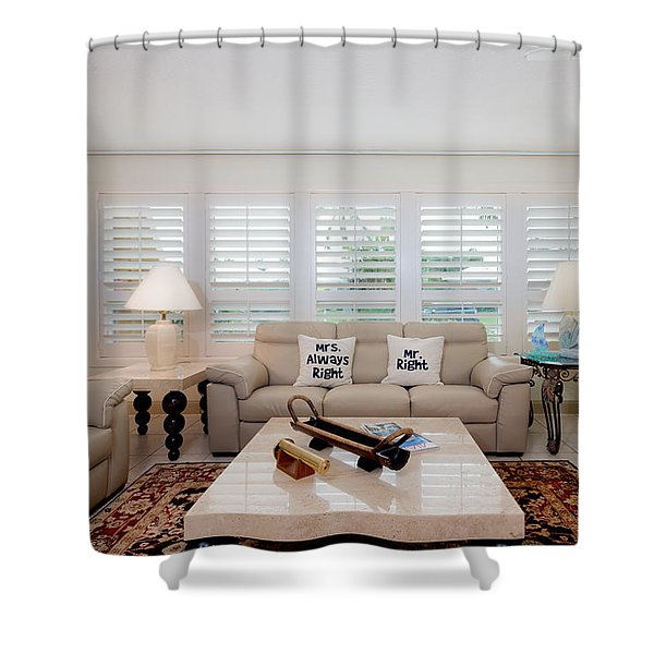 Shower Curtain featuring the photograph Living Room by Jody Lane