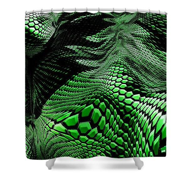 Dragon Skin Shower Curtain