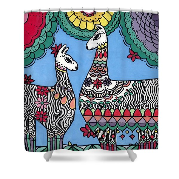 Llama Mama Shower Curtain