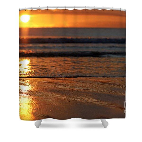 Llangennith Beach Sand Textures Shower Curtain