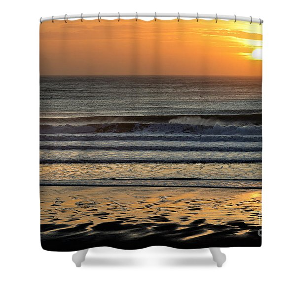 Llangennith Gold Reflections Shower Curtain