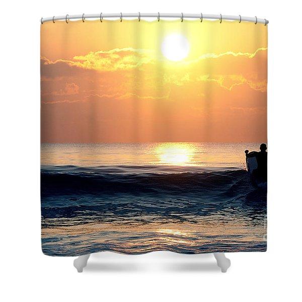 Llangennith Last Wave Shower Curtain