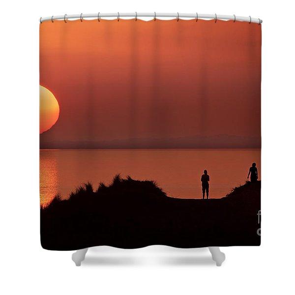 Llangennith Late Summer Days Shower Curtain