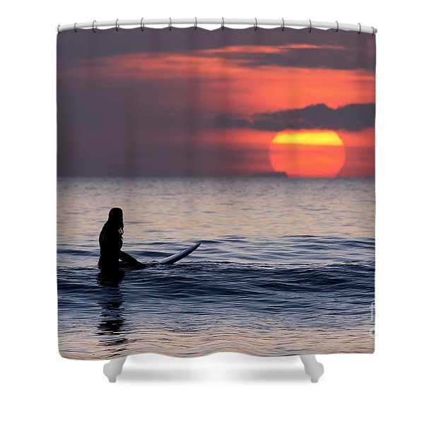 Llangennith One More Wave Shower Curtain