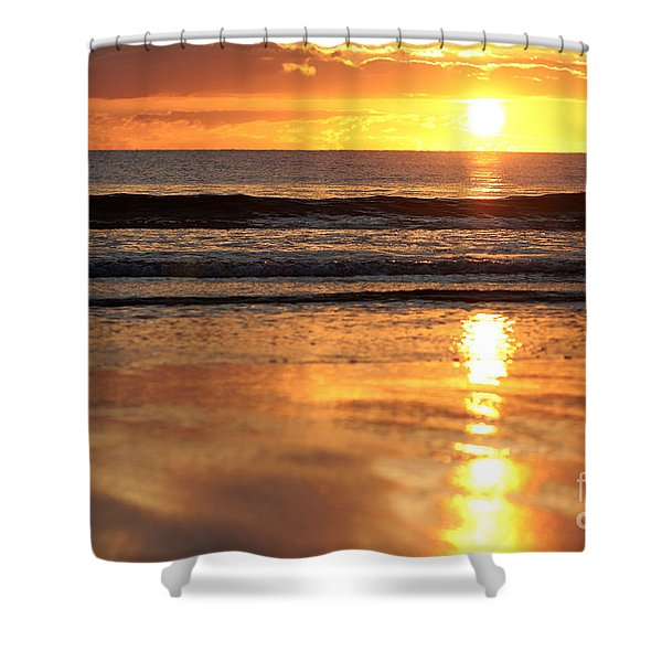 Llangennith Sundown Shower Curtain