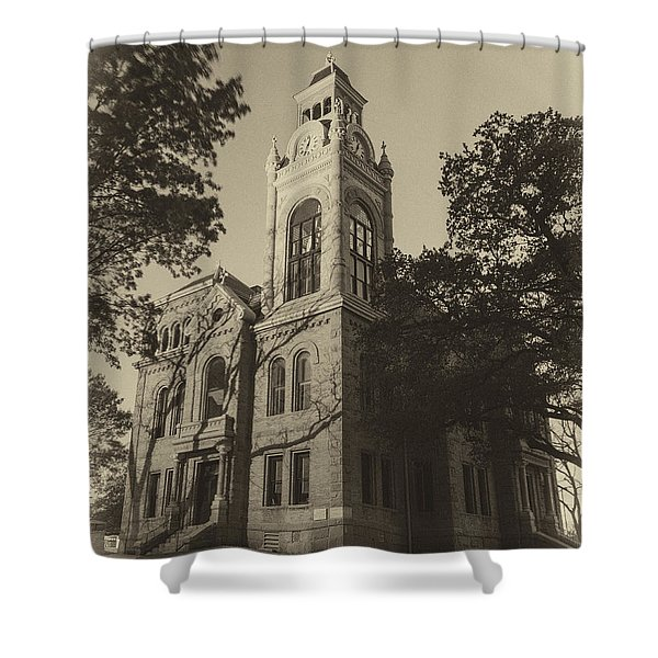 Llano County Courthouse - Vintage Shower Curtain