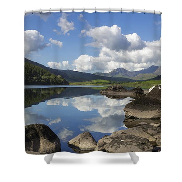 Llyn Mymbyr And Snowdon Panorama Shower Curtain