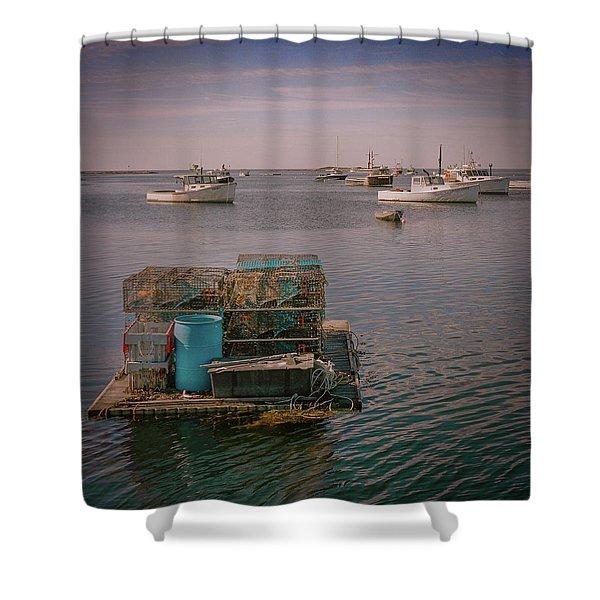 Lobstar Pot Float Shower Curtain