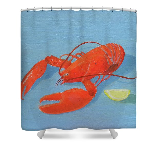 Lobster And Lemon Shower Curtain