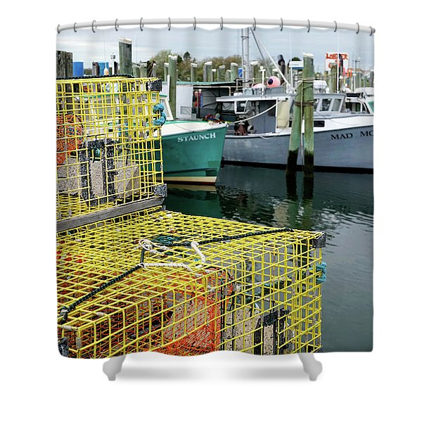 Shower Curtain featuring the photograph Lobster Traps In Galilee by Nancy De Flon