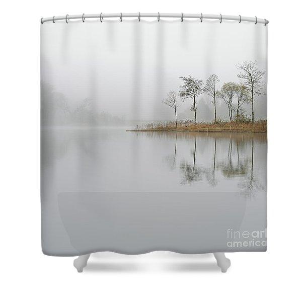 Loch Ard Misty Sunrise Shower Curtain