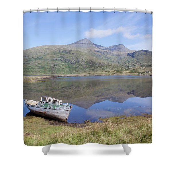 Loch Beg Reflections Shower Curtain