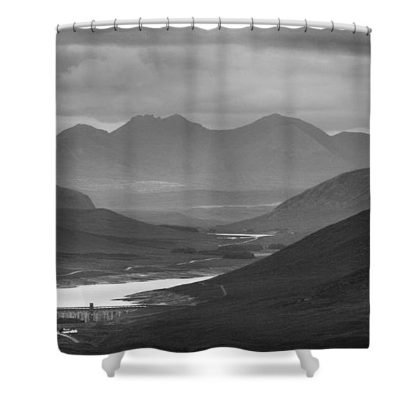Loch Glascarnoch And An Teallach Shower Curtain