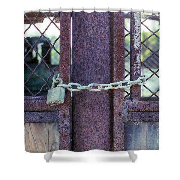Locked Up Layers Shower Curtain