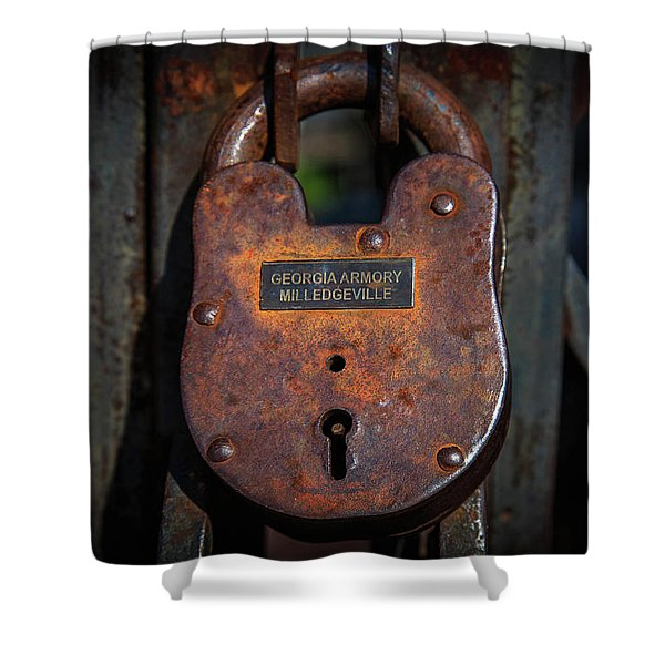 Locked Up Tight Shower Curtain