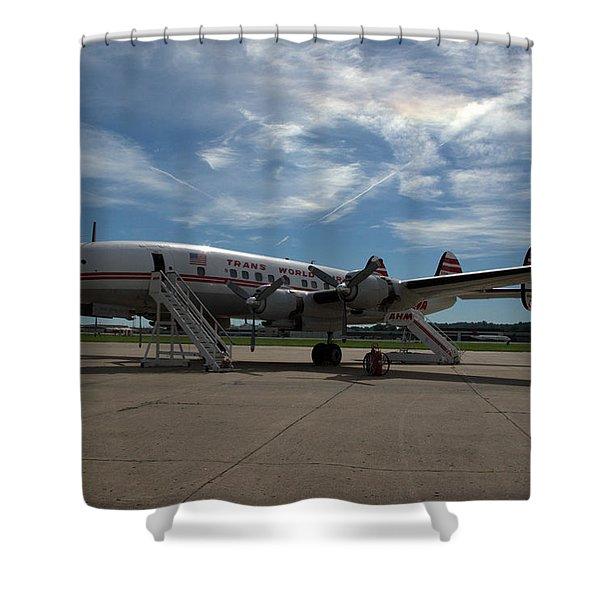Lockheed Constellation Super G Shower Curtain