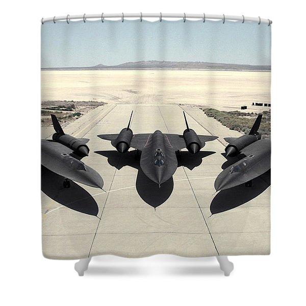 Lockheed Sr-71 Blackbird Shower Curtain