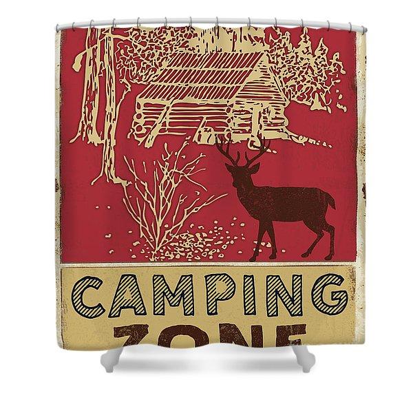 Lodge Sign-b Shower Curtain