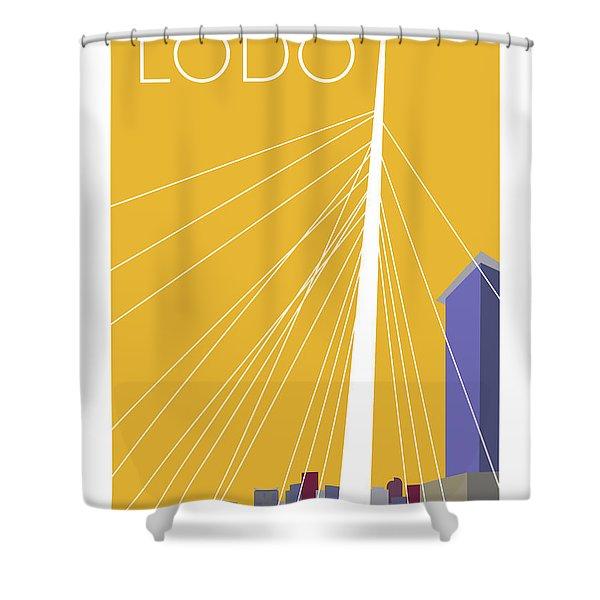 Lodo/gold Shower Curtain