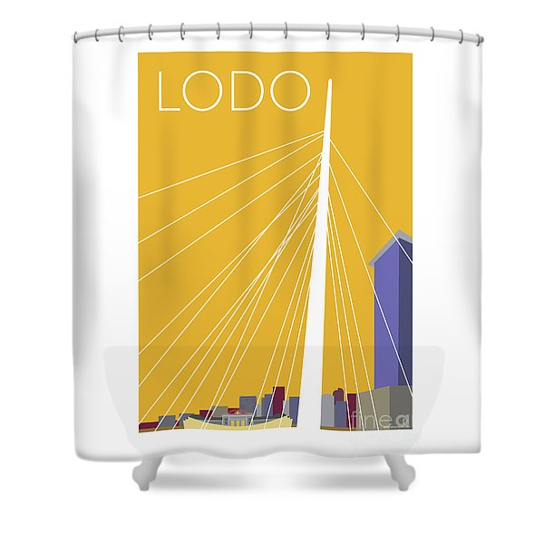 Lodo/gold Shower Curtain
