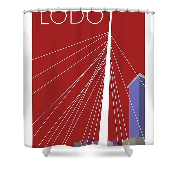 Lodo/maroon Shower Curtain