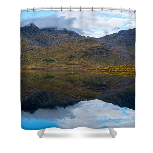 Lofoten Lake Shower Curtain