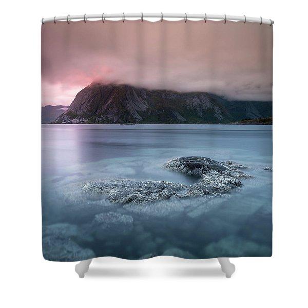 Lofoten Sunset Shower Curtain