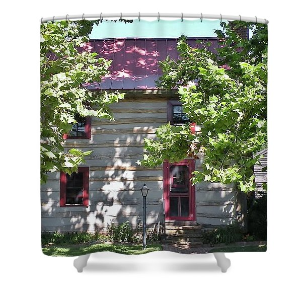Log Cabin 5 - Lewes Delaware  Shower Curtain