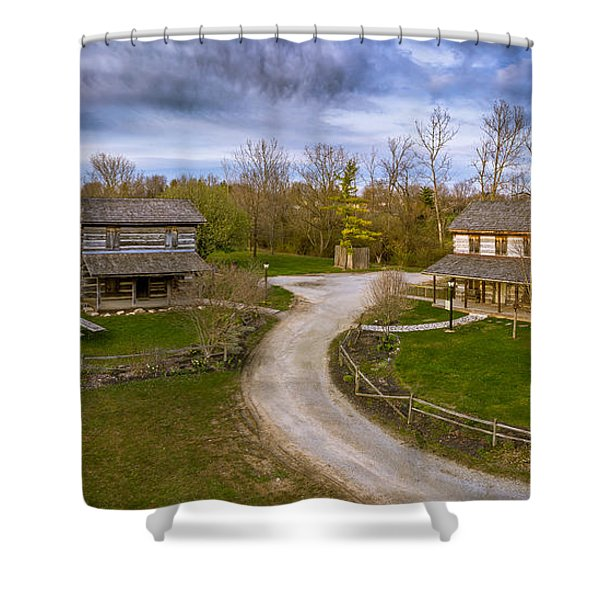 Log Cabins Shower Curtain
