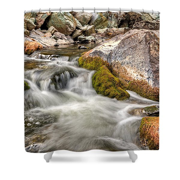 Logan Creek, Montana 2 Shower Curtain