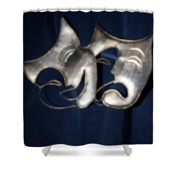 Logo For Theater Productions Shower Curtain