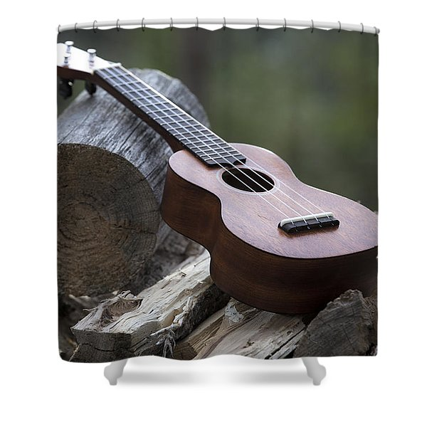 Logpile Ukulele Shower Curtain