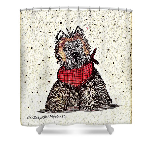 Lola The Dog Shower Curtain