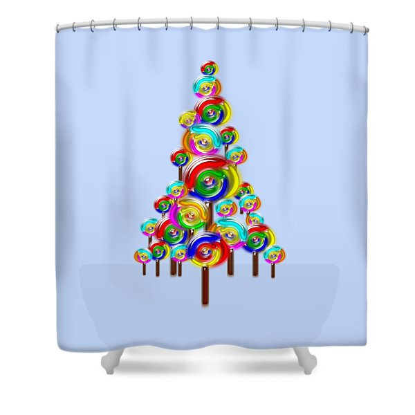 Lollipop Tree Shower Curtain